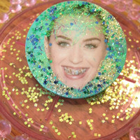 Katy Perry With a Grill . Sparkle Glitter Pin