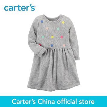Carter's 1-Piece baby children kids clothing Girl Long-Sleeve French Terry Dress 251G517