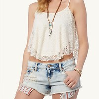 Lace Crop Swing Cami