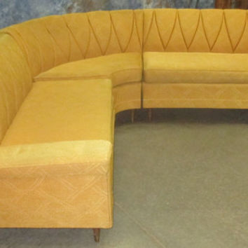 3 Piece Sectional Mid Century Davenport Couch Sofa Vintage 50s 60s Danish Modern