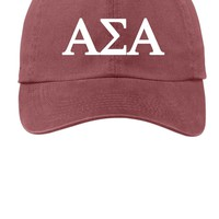 ASA / Alpha Sigma Alpha / Choose Your Colors / Sorority Cap