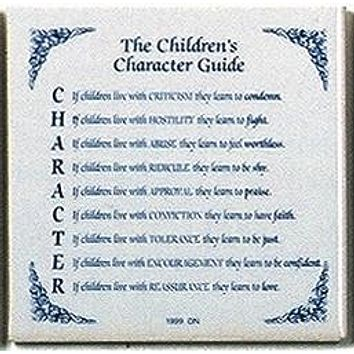 Decorative Wall Plaque: Children's Character Guide