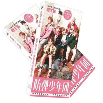KPOP BTS Bangtan Boys Army  home  new   JIMIN SUGA  boys five years anniversary post cards with 120-128 pieces AT_89_10