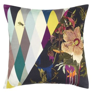 Christian Lacroix Orchid's Mascarade Multicolore Decorative Pillow