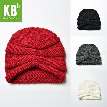 SALE KBB Xmas Fall Winter Kawaii Comfy muticolor Ridged Pattern Design Yarn Knit Delicate Winter Hat Beanie for Women Ladies