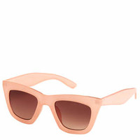 Flatbrow Cateye Sunglasses - Pale Pink
