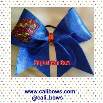 Rhinestone Superman Bow as seen on Instagram