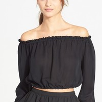 Women's Elizabeth and James 'Denny' Off the Shoulder Silk Top