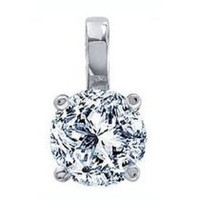 0.76 Carat I/SI2 Round Certified Diamond Solitaire Pendant in Platinum  0.76 Carat I/SI2 Round Certified Diamond Solitaire Pendant in Plat