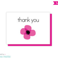 thank you cards, set of 8 cards & envelopes