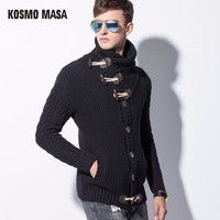 Cotton O-Neck Full Cardigan Sweater For Men Autumn Winter Jumpers Jacquard Christmas Slim Men's Sweaters