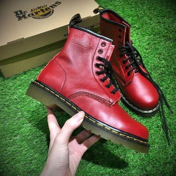 Newest Dr. Martens Modern Classics 1460 Retro Red Leather Boots 524952 - Beauty Ticks
