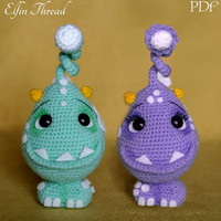Elfin Thread - Felpo and Felpa, The lovely Monsters Amigurumi PDF Pattern (crochet Monster)