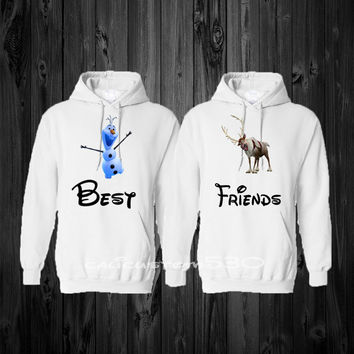 Two Matching BEST FRIEND Hoodie Sweatshirt
