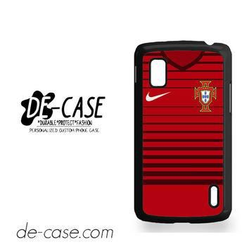 Portugal Soccer Jersey For Google Nexus 4 Case Phone Case Gift Present YO