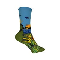 Under the Sea Crew Socks in Blue