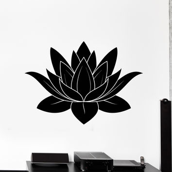 Wall Stickers Vinyl Decal Lotus Flower Buddhism Symbol of Purity Talisman Unique Gift (ig2310)