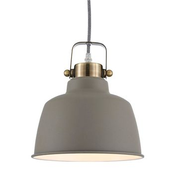 Ohr Lighting® Metal Lighting  Industrial Pendant Brushed Nickel (OH125)