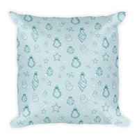 Holiday Ornaments Pattern Pillow