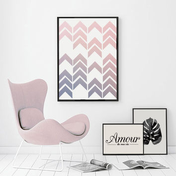 Arrow Poster Pattern, Abstract Print Poster, Retro Print Poster, Geometric Print Poster, Minimalist Poster, Minimalistic Wall Art.
