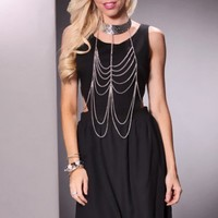 Black Cutout Sides Zippered Back Dotted Chiffon Dress @ Amiclubwear sexy dresses,sexy dress,prom dress,summer dress,spring dress,prom gowns,teens dresses,sexy party wear,women's cocktail dresses,ball dresses,sun dresses,trendy dresses,sweater dresses,teen