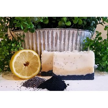 All-Natural Lemon Poppyseed Handmade Soap