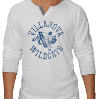 Original Retro Brand Villanova Wildcats Mens Henley Fashion - White