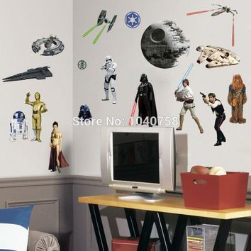 PVC Cartoon Star Wars Peel And Stick Wall Stickers For Kids Boys Room Wall  Decal Home Part 66