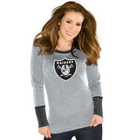 Touch by Alyssa Milano Oakland Raiders Ladies Touch Quick Pass Long Sleeve Thermal T-Shirt - Ash