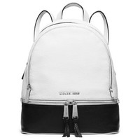 Rhea Medium Color-Block Leather Backpack | Michael Kors