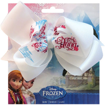 Disney Frozen Grosgrain 1 Ribbon Hair Bows-Names