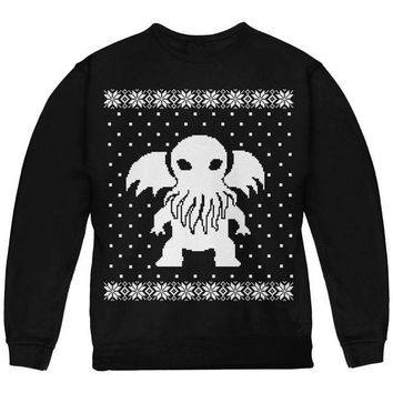 ONETOW Big Cthulhu Lovecraft Ugly Christmas Sweater Youth Sweatshirt
