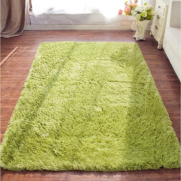 80160cm large size plush shaggy soft carpet area rugs slip resistant floor mats for - Soft Carpet For Bedrooms