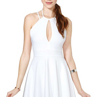 White Criss-Cross Spaghetti Strap Dress