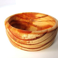 Hand Turned Wood Bowl 266 Antique Pine Wooden Bowl Reclaimed by Hendywood