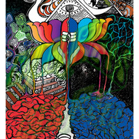 Bicycle day Canvas Poster,Hoffman lsd art,wall art