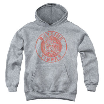 SAVED BY THE BELL/TIGERS-YOUTH PULL-OVER HOODIE - HEATHER -