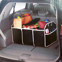 Collapsible Black Car Trunk Organizer Toys Food Storage Truck Cargo Container FREE SHIPPING