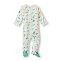 Baby Boys Layette Long Sleeve Dinosaur Print Footed Sleep and Play | The Children's Place