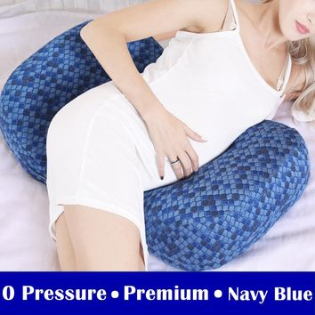 Comfortable Pregnant Women Bedding Pillow Maternity Pregnancy Body Pillows Back Waist Support Sleep Cushion for Side Sleepers