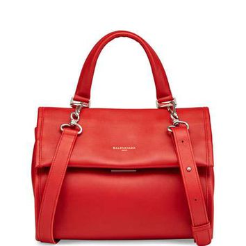Balenciaga Tool AJ Small Satchel Bag, Red