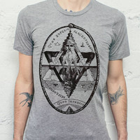 As Above So Below T Shirt // Mens Gift - Mens Sacred Geometry TShirt // Mens Boho Tops - Bohemian Clothing / Street Wear - Festival Clothing