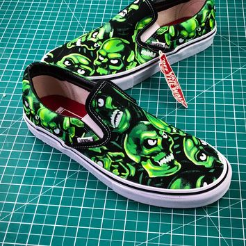 Supreme X Vans Slip-on Skull Pile Sneakers - Best Online Sale