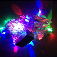 Colorful led string lights 10M 50leds AC220V EU plug outdoor decoration light christmas/fairy lighting