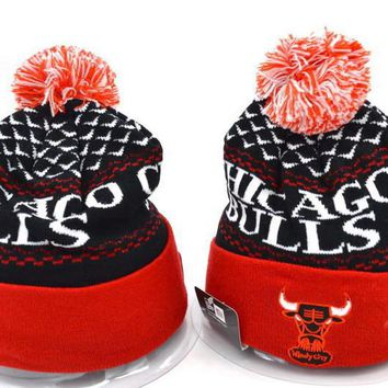 Chicago bulls Women Men Embroidery Beanies Knit Hat Cap-10