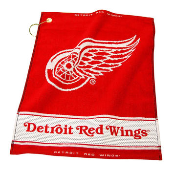 Detroit Red Wings NHL Woven Golf Towel
