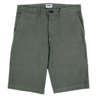 Rail Short Garment Dyed in Khaki Enzyme Washed by Edwin