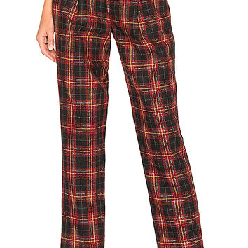 L'Academie The Betty Pant in Black & Red | REVOLVE