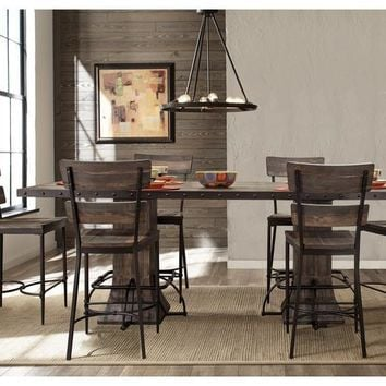 4022CDT7PC Jennings 7-Piece Rectangle Counter Height Dining Set with Non-Swivel Counter Stools