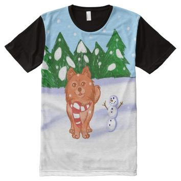 Snow Puppy All-Over Print T-shirt